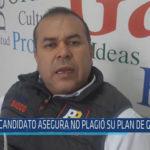 Chiclayo : Candidato asegura no plagió su plan de gobierno