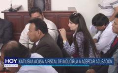 Chiclayo : Katiuska acusa a fiscal de inducirla a aceptar acusación