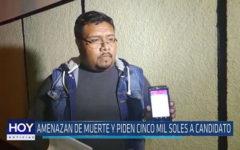 Chiclayo : Amenazan de muerte y piden cinco mil soles a candidato
