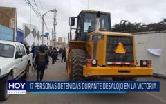 Chiclayo: 17 personas detenidas durante desalojo en la victoria