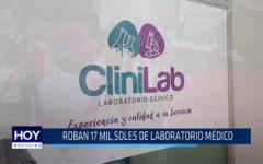 Chiclayo: Roban 17 mil soles de laboratorio médico