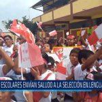 Chiclayo: Escolares envían saludo a selección en lengua muchick