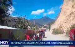 Piura: Se reporta deslizamientos de cerros en Huancabamba