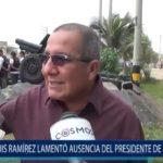 Piura: Alcalde de Castilla lamentó ausencia del presidente de la república