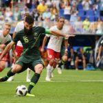 Dinamarca empató 1-1 con Australia y lidera el grupo C