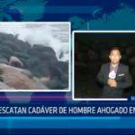 Rescatan cadáver de hombre ahogado en playa