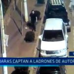Cámaras captan a ladrones de autopartes