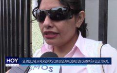Chiclayo: Se incluye a personas con discapacidad en campaña electoral