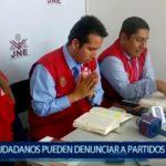 Piura: Ciudadanos pueden denunciar a partidos políticos