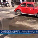 Chiclayo: Colapso de desagüe afecta a vecinos de la calle Manco Cápac