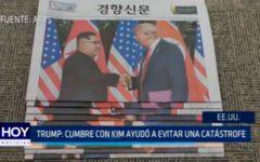 USA: Cumbre con Kim ayudó a evitar una catástrofe