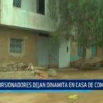 Trujillo: Extorsionadores dejan dinamita en casa de comerciante