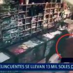 Piura: Delincuentes se llevan 13 mil soles de tienda
