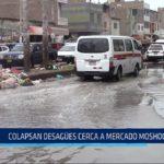Chiclayo: Colapsan desagües cerca a mercado Moshoqueque
