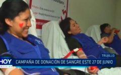 Campaña de donación de sangre este 27 junio