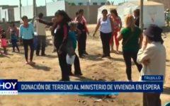 Donación de terreno al Ministerio de Vivienda en espera