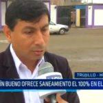 Efraín Bueno ofrece saneamiento el 100% en El Milagro