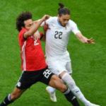 Uruguay empata 0-0 el primer tiempo con una difícil selección de Egipto