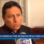 Elías Rodríguez pide reconocer resultados electorales
