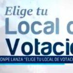"""ONPE lanza """"Elige tu local de votación"""""""