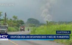 Guatemala: Erupción deja 200 desaparecidos y más de 70 muertos