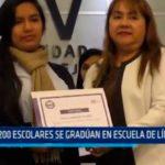 Trujillo: 200 escolares se gradúan en escuelas de líderes