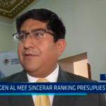 Exigen al MEF sincerar ranking presupuestal 2018