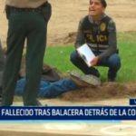 Un fallecido tras balacera detrás de la comisaria