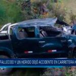 La Libertad: Un fallecido dejó accidente en carretera hacia Pataz