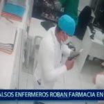 Piura: Falsos enfermeros roban en farmacia
