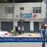 Chiclayo: Realizan forado y se llevan veinte mil soles de farmacia