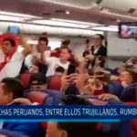 Hinchas peruanos entre ellos trujillanos rumbo a Rusia