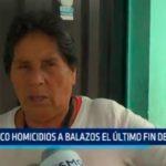 Trujillo: Cinco homicidios a balazos el último fin de semana