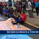 Trujillo: Docentes no dan su brazo a torcer