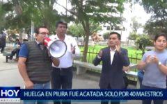 Piura: Huelga de maestros no tuvo acojida