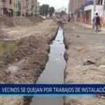Chiclayo: Vecinos se quejan por trabajos de instalación de gaz