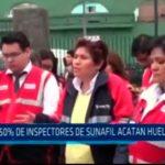 50% de inspectores de Sunafil acatan huelga