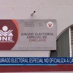 Chiclayo: Jurado Electoral Especial no oficializa a candidatos
