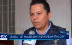 """GERESA: """"Ley Mulder limita brindar información"""""""