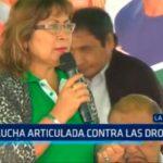 Trujillo: Lucha articulada contra las drogas