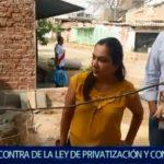 Piura: Marisol Espinoza en contra de la ley de privatización