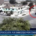 Piura: Motociclista fue embestido por combi