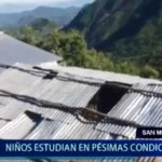 Piura: Niños de San Miguel del Faique estudian en pésimas condiciones