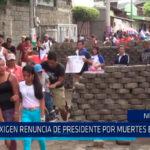 Nicaragua: Ciudadanos exigen renuncia del presidente por muertes en protestas