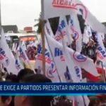ONPE exige a partidos presentar información financiera