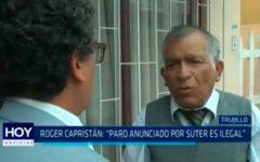 """Roger Capristán: """"Paro anunciado por SUTER es ilegal"""""""