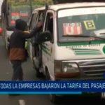 Trujillo: No todas las empresas bajaron la tarifa del pasaje urbano