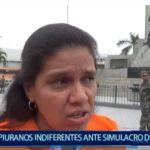 Piura: Piuranos indiferentes ante simulacro de sismo