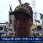 Piura: Población debe trabajar con su policía
