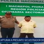 Piura: Policía captura a presunto secuestrador de menores